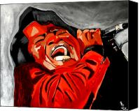 Art Of Soul Singer Canvas Prints - ooooww - James Brown Canvas Print by Saheed Fawehinmi