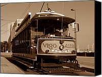 Trolley Canvas Prints - Open air trolley Canvas Print by David Lee Thompson