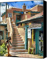 Taos Canvas Prints - Open for Business Canvas Print by Jeff Kolker