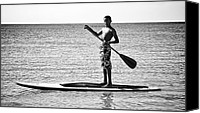 Sup Canvas Prints - Open Paddle Canvas Print by Britt Runyon