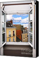 Brittany Canvas Prints - Open window Canvas Print by Elena Elisseeva