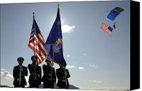 American Flags Canvas Prints - Opening Ceremony Of The 2009 Aviation Canvas Print by Stocktrek Images