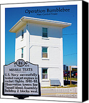 Topsail Island Canvas Prints - Operation Bumblebee Control Tower Canvas Print by East Coast Barrier Islands Betsy A Cutler