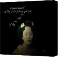 Haiku Canvas Prints - Opiums Herself Canvas Print by Steven  Digman