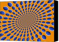 Psychedelic Canvas Prints - Optical Illusion Pods Canvas Print by Michael Tompsett