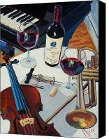Cakebread Canvas Prints - Opus and Music Canvas Print by Christopher Mize