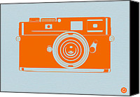 Polaroid Camera Canvas Prints - Orange camera Canvas Print by Irina  March