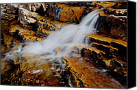 Upper Canvas Prints - Orange Falls Canvas Print by Chad Dutson