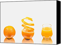 Triptych Canvas Prints - Orange Juice Canvas Print by Gert Lavsen