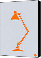 Iconic Lamp Design Canvas Prints - Orange Lamp Canvas Print by Irina  March