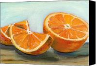 Food Painting Canvas Prints - Orange Canvas Print by Sarah Lynch