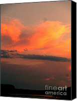 Sue Jenkins Canvas Prints - Orange Sky Canvas Print by Sue Jenkins
