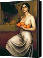 Nudes Canvas Prints - Oranges and Lemons Canvas Print by Julio Romero de Torres