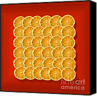 Arts Edge Canvas Prints - Oranges Canvas Print by H Scott Cushing