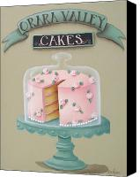 Cake-stand Canvas Prints - Orara Valley Cakes Canvas Print by Catherine Holman