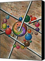 Spiral Drawings Canvas Prints - Orbital Ker Plunk  Canvas Print by Peter Piatt