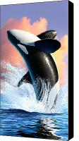 Water Canvas Prints - Orca 1 Canvas Print by Jerry LoFaro