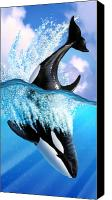 Whale Canvas Prints - Orca 2 Canvas Print by Jerry LoFaro