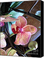 Painterly Orchids Canvas Prints - Orchidaceous Canvas Print by Maureen J Haldeman