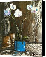 Signed Painting Canvas Prints - Orchids stand tall Canvas Print by Patricia Awapara