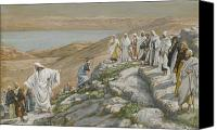Tissot Canvas Prints - Ordaining of the Twelve Apostles Canvas Print by Tissot