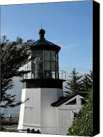 Maritime Canvas Prints - Oregon Lighthouses - Cape Meares Lighthouse Canvas Print by Christine Till