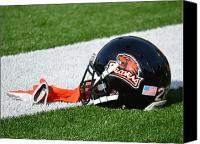 Team Canvas Prints - Oregon State Helmet Canvas Print by Replay Photos