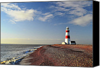 Safety Canvas Prints - Orford Ness Lighthouse Canvas Print by Photo by Andrew Boxall