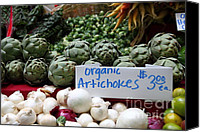 Fruit Markets Canvas Prints - Organic Artichokes - 5D17065 Canvas Print by Wingsdomain Art and Photography