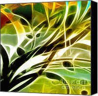 Abstract Organic Canvas Prints - Organic Spring Canvas Print by Ann Croon