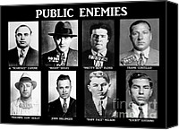 Gun Canvas Prints - Original Gangsters - Public Enemies Canvas Print by Paul Ward