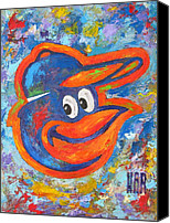 Major Canvas Prints - ORIOLES Portrait Canvas Print by Dan Haraga