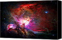 Universe Canvas Prints - Orion Nebula Canvas Print by Michael Tompsett