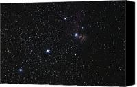Belt Canvas Prints - Orions Belt, Horsehead Nebula And Flame Canvas Print by Luis Argerich