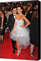 Tulle Canvas Prints - Orlando Bloom, Miranda Kerr Wearing Canvas Print by Everett