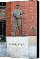Baseball Parks Canvas Prints - Orlando Cepeda at San Francisco Giants ATT Park .7D7631 Canvas Print by Wingsdomain Art and Photography