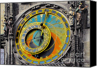 Time Piece Canvas Prints - Orloj - Astronomical Clock - Prague Canvas Print by Christine Till