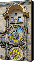 Time Piece Canvas Prints - ORLOJ - Prague Astronomical Clock Canvas Print by Christine Till