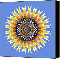 Flower Design Canvas Prints - Ornament 4 Canvas Print by Mark Greenberg
