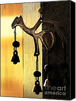Copper Bells Canvas Prints - Ornament in Golden Light Canvas Print by Ellen Cotton