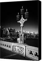 Coat Of Arms Canvas Prints - ornate westminster bridge lamp and coat of arms London England UK United kingdom Canvas Print by Joe Fox