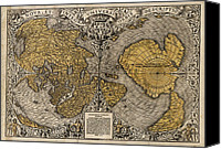 Map Of The World Photo Canvas Prints - Oronce Fines World Map, 1531 Canvas Print by Library Of Congress, Geography And Map Division