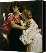 Embrace Canvas Prints - Orpheus and Euridyce Canvas Print by Frederic Leighton