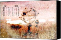 Science Fiction Canvas Prints - Orrery Canvas Print by Bob Orsillo