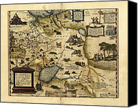 Map Of The World Photo Canvas Prints - Orteliuss Map Of European Russia, 1570 Canvas Print by Library Of Congress, Geography And Map Division
