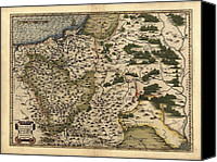 Map Of The World Photo Canvas Prints - Orteliuss Map Of Poland, 1570 Canvas Print by Library Of Congress, Geography And Map Division