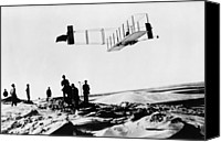 Bi Planes Canvas Prints - Orville Wright Making A Record Breaking Canvas Print by Everett