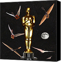 Award Digital Art Canvas Prints - Oscars Night Out Canvas Print by Eric Kempson