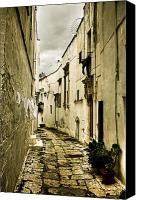 Old Wall Canvas Prints - Ostuni - Apulia Canvas Print by Joana Kruse