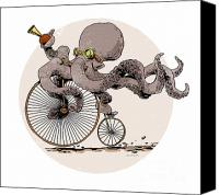 Steampunk Canvas Prints - Ottos Sweet Ride Canvas Print by Brian Kesinger